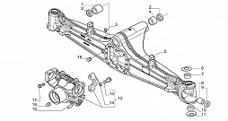 FRONT AXLE-AXLE HOUSING 4WD