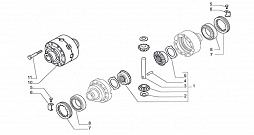 FRONT AXLE-BEVEL GEAR SET 4WD 2